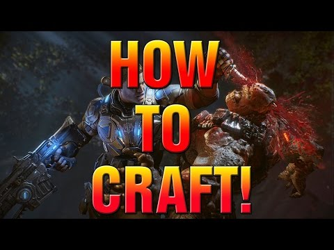 GEARS OF WAR 4 HOW TO CRAFT! NEW GEARS OF WAR FEATURE!
