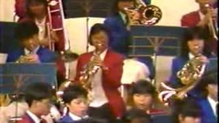 Auld Lang Syne - HKYSB + 習志野高校 聯合管樂團 (1986 Japan tour)