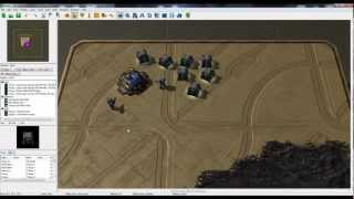 Starcraft 2 Map Editor -  Building custom structures and training custom units.