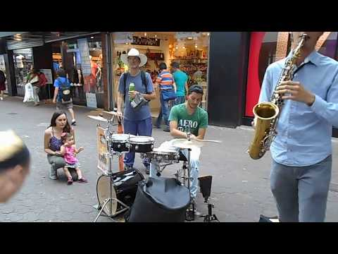 Jazz Street Musician Performing