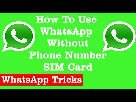 How To Use WhatsApp Without Phone Number | SIM Card | Best WhatsApp Tricks