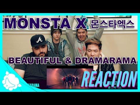 Non-Kpop fans REACT to MONSTA X 몬스타엑스 - Beautiful 아름다워 & Dramarama