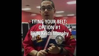 How to Tie Belt- Option 1