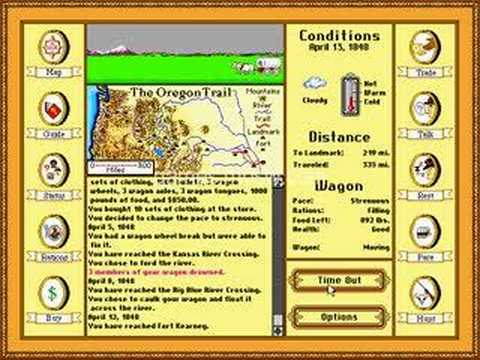 oregon trail deluxe pc game youtube