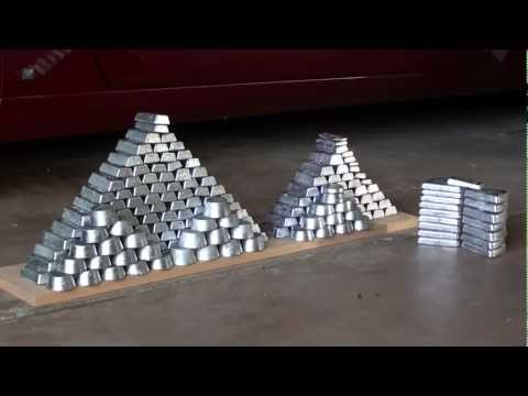 Lead Ingot Casting From Range Scrap - Part 5 Strategic Reserve