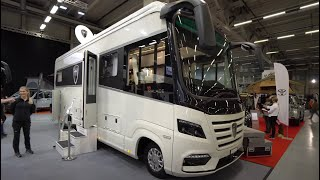 Luxury at a budget price: Morelo Palace 2021 motorhome - new technology + design-extended room tour.