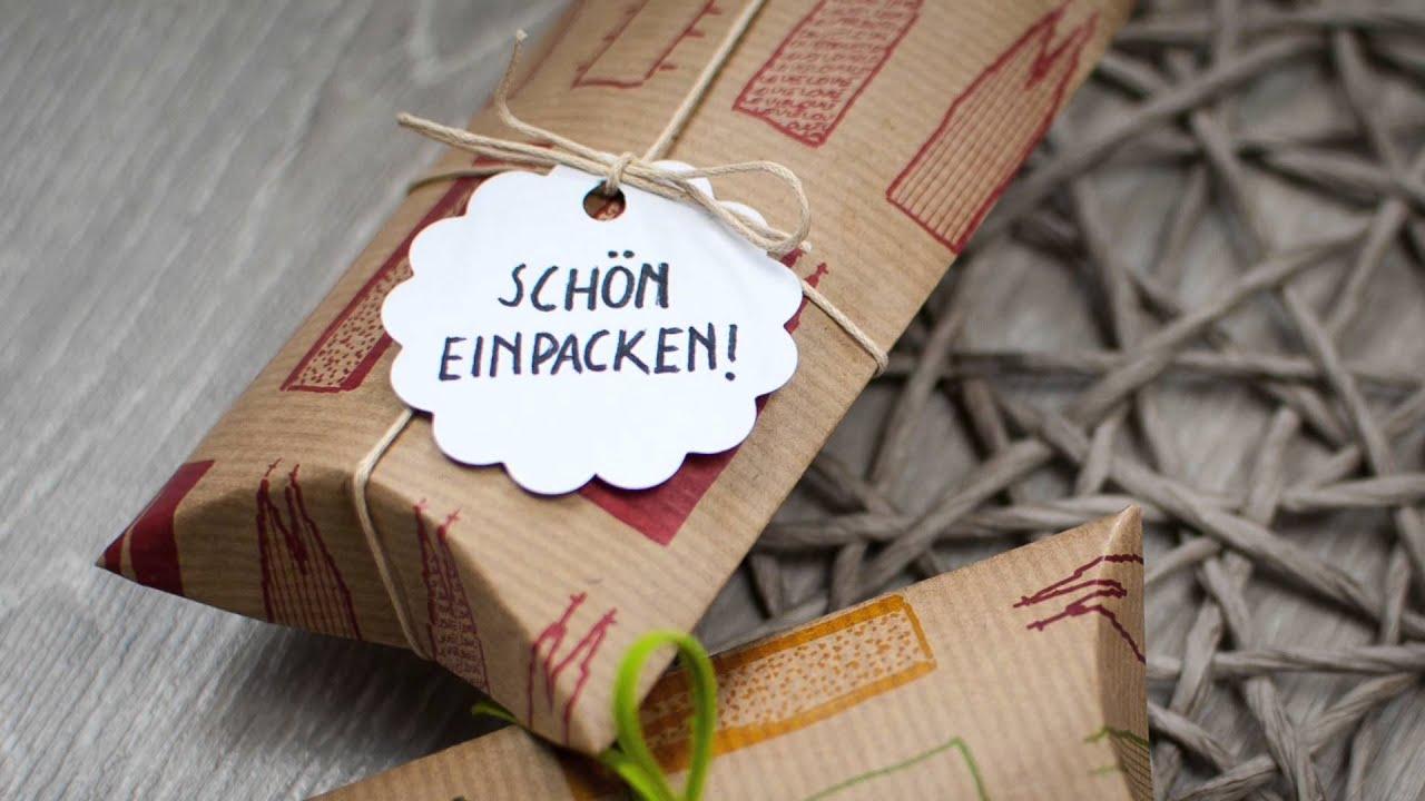 Pillow Box Basteln pillow box selber machen diy schön einpacken