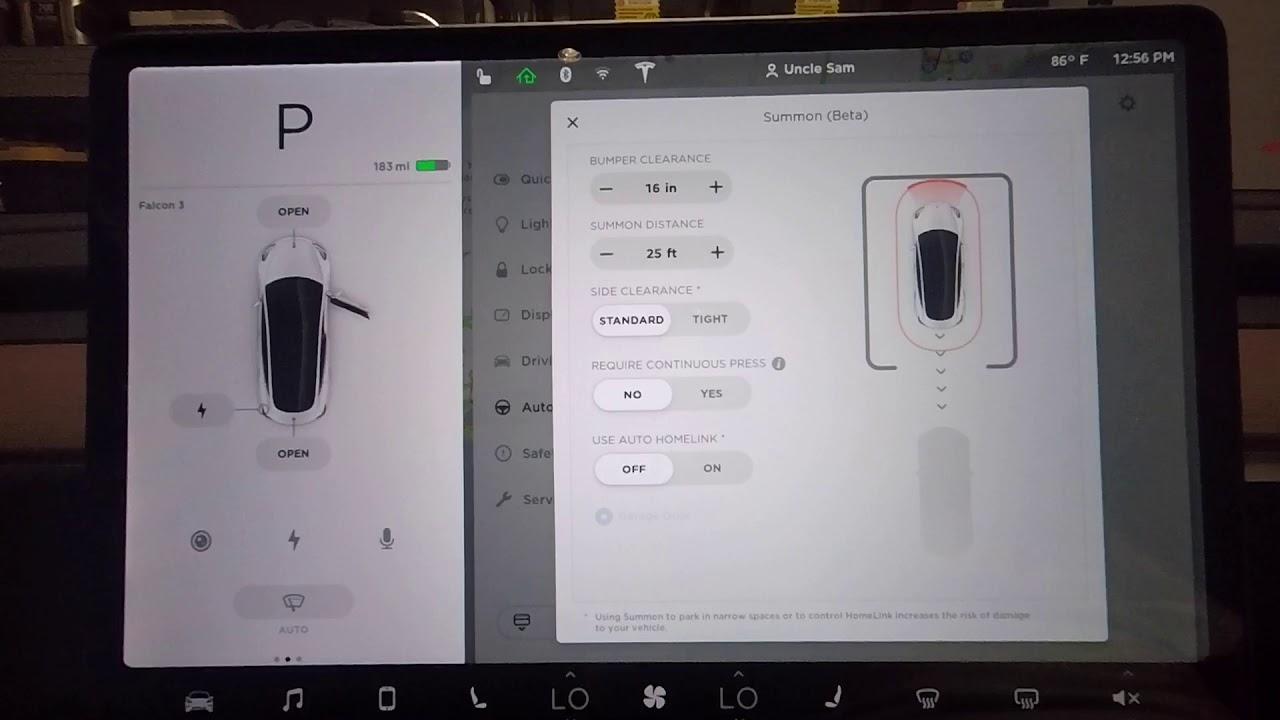 Tesla Model 3 Summon Enhanced Autopilot 2018.24.8 - YouTube