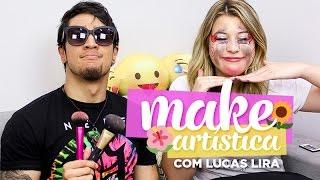 Desafio da maquiagem artística com Lucas Lira