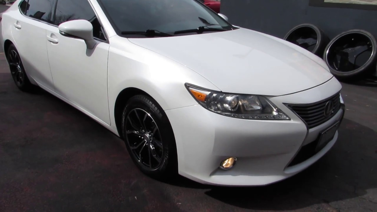 2013 lexus es 350 with custom 17 inch black rims tires. Black Bedroom Furniture Sets. Home Design Ideas