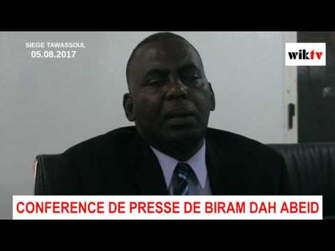 CONFERENCE DE PRESSE (INTEGRALE) DE BIRAM DAH ABEID - Nouakchott - 05.08.2017