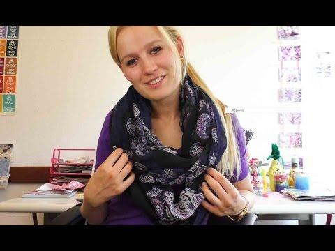 Loop Schal selber machen | Schal nähen mit der Nähmaschine | Anleitung für Anfänger