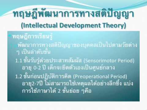 พื้นฐานทางจิตวิทยาการศึกษา ชนาธิป