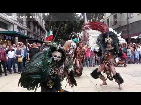 Aztec dancing in Mexico city