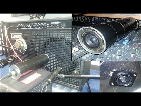 DIY 'SubKick Style' Lo-Fi Microphone/Speaker Experiment - Pringles Can & Mini Woofer (With Demo)