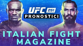 UFC 251 fight island  PRONOSTICI