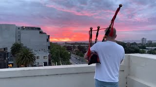Listen to the St Kilda rooftop bagpiper
