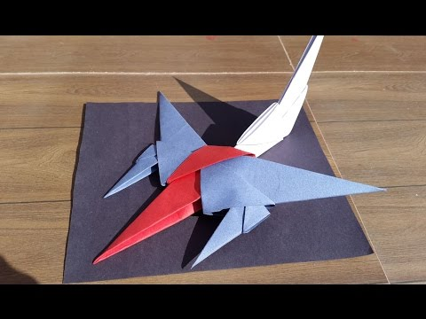 How to make a cool fighter jet from paper building blocks- Easy DIY