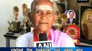 93 years old Yoga Teacher from Coimbatore, India.