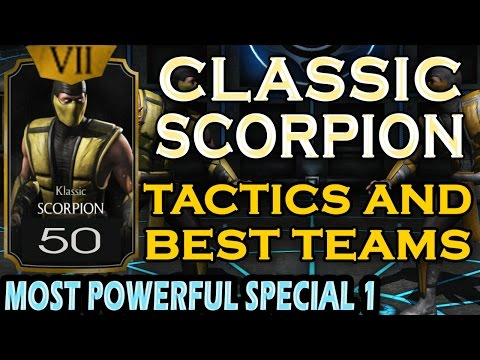 Klassic Scorpion detailed review (MAXED OUT). Best strategies and teammates.