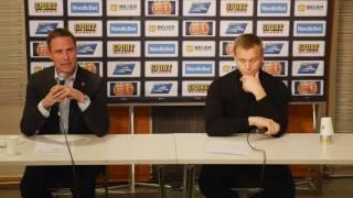 Presskonferens efter matchen Frölunda - Skellefteå
