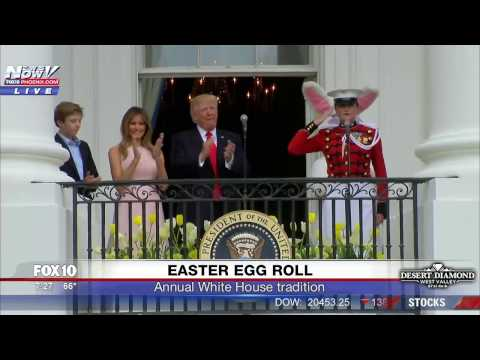 FNN: White House Easter Egg Roll feat. President Trump, First Lady and Barron Trump