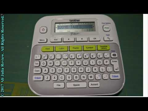 Brother P Touch Pt D210 Label Maker Youtube