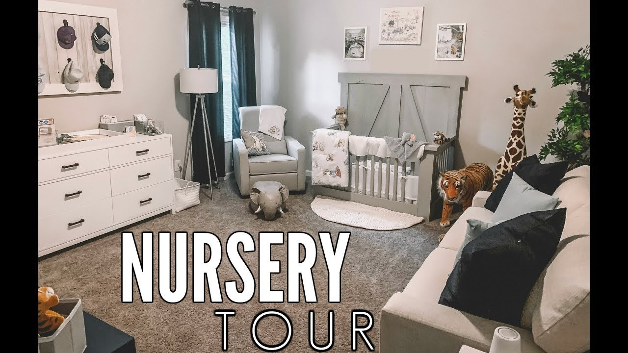 BABY BOY NURSERY TOUR! | Casey Holmes Vlogs - YouTube