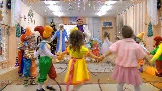 ★Игра хоровод с СНЕГОВИКОМ ★★The game dance with snowman★Новогодний утренник в детском саду★