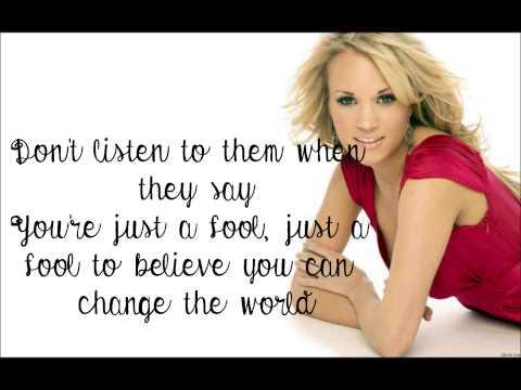 Carrie Underwood - 'Change' Lyrics