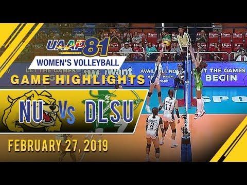 UAAP 81 WV: NU vs. DLSU | Game Highlights | February 27, 2019