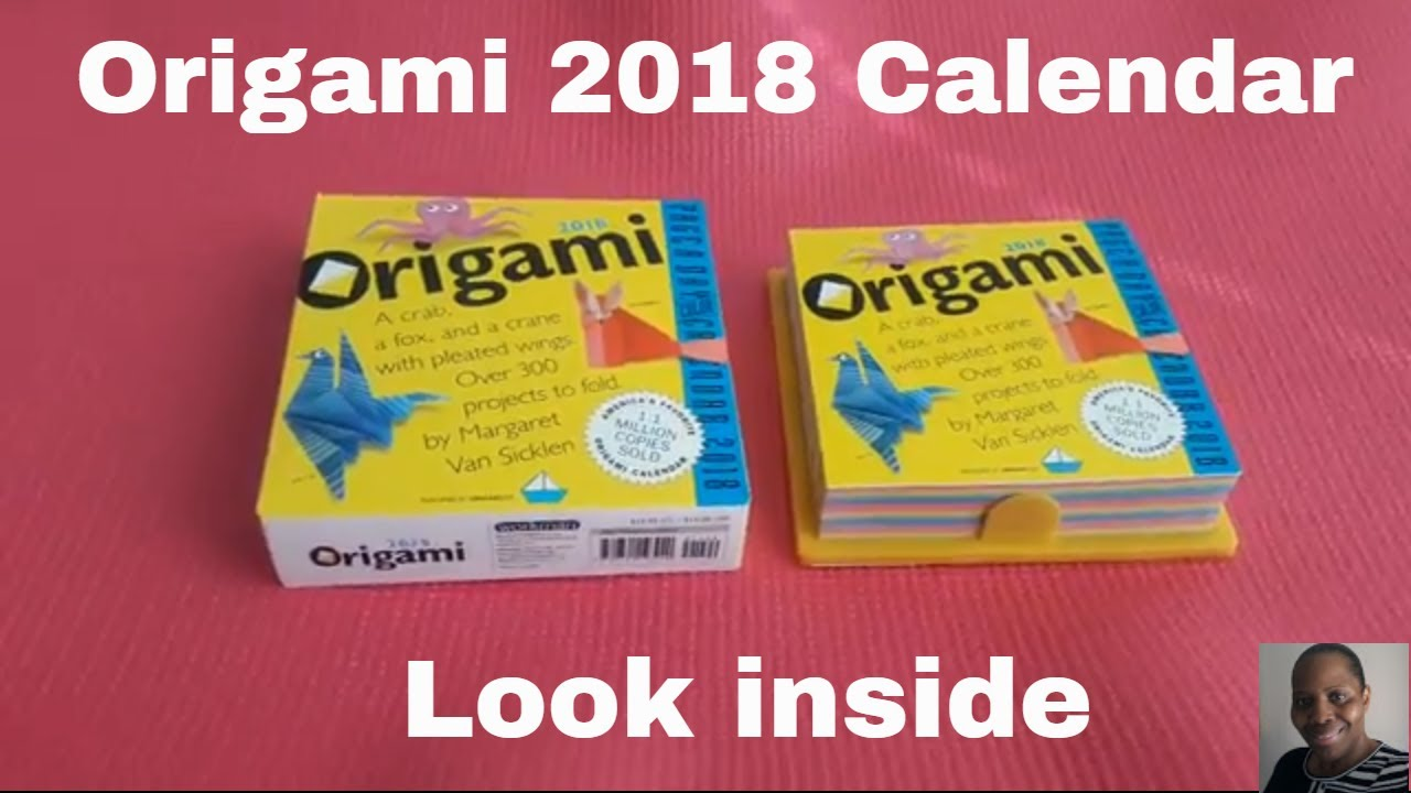 picture about Page a Day Calendar named Origami Web site-A-Working day Calendar 2018 as a result of Margaret Van Sicklen a Conclude up appearance