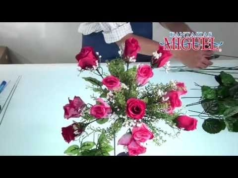 Como hacer un Arreglo floral para San Valentin. - YouTube