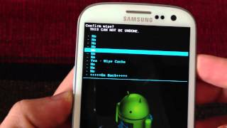 How to do a Wipe Data Factory Reset & Wipe Cache in Clockworkmod Recovery