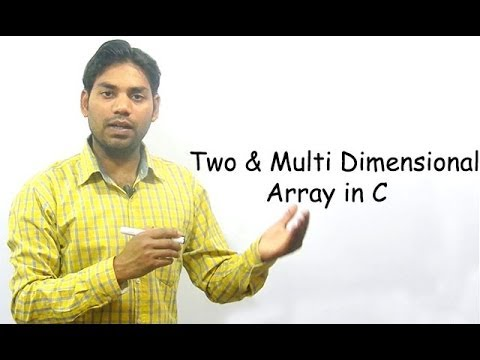 Two and Multi Dimensional Array in C (HINDI)