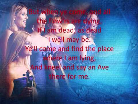 Celtic Woman - Danny Boy With Lyrics