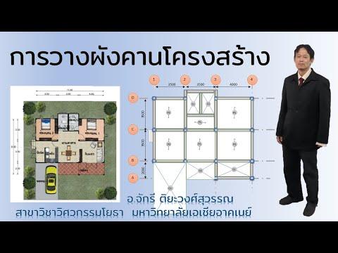 RC Design: ฝึกวางผังโครงสร้าง เสา+คาน+พื้น แบบบ้านเบื้องต้น สำหรับเตรียมออกแบบ