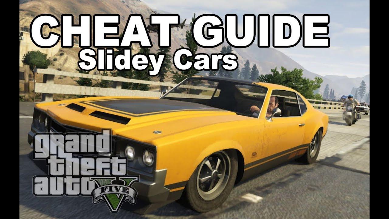 Gta V Cheat Slidey Cars Youtube