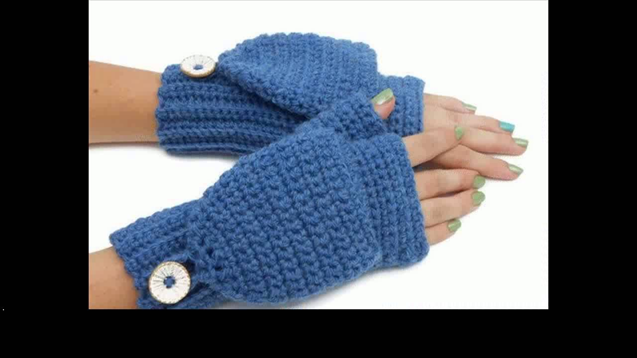 easy crochet mittens project - YouTube