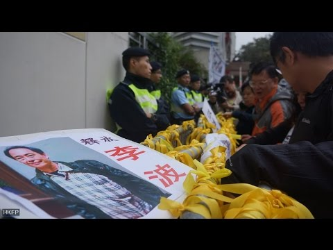 Thousands rally to demand answers from Beijing over missing HK publishers