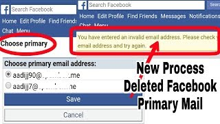 New Process Deleted Facebook Primary Mail | Without Web Mode Version (Update New Problem) 2018