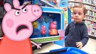 peppa pig nervosa! compramos todos os brinquedos da peppa pig na loja de brinquedos