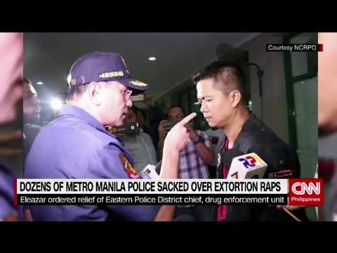 Dozens of Metro Manila police sacked over extortion raps