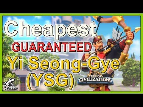 Cheapest GUARANTEED way to get Yi Seong-Gye (YSG) - Rise of Civilizations
