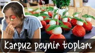 10.000 abone özel Karpuz Peynir Topları nasıl yapılır!!! :D | Merlin Mutfakta Yemek Tarifleri
