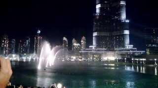 Dubai Dancing Fountain (New Year 2014)