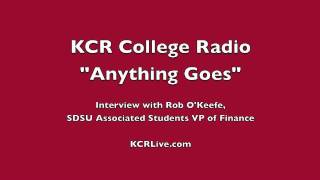 """Anything Goes"" on KCR College Radio: Rob O"