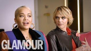 Rita Ora & Cara Delevingne On Their Horrifying Internet Trolling | GLAMOUR UK Video