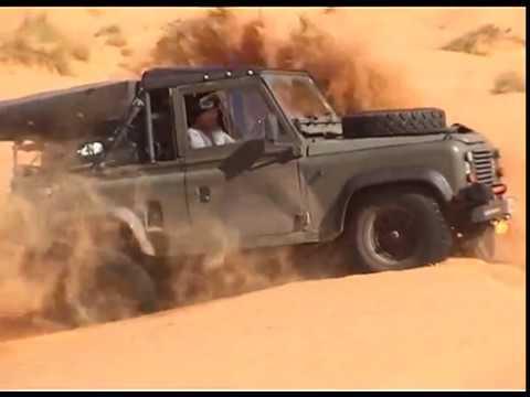 Defender Desert crossing in Tunisia, North Africa