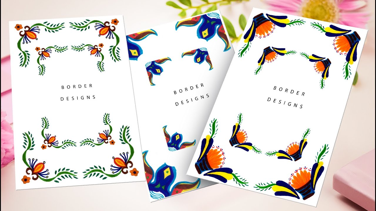 khata | border designs on paper | front page design for